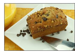 Banana Walnut Chocolate Chip Bread
